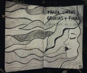 keri smith, pretty girl, and wreck this journal image