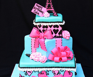 cake and eiffel tower image