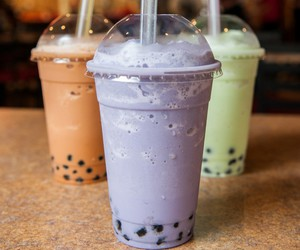 boba, yummy, and bubble tea image