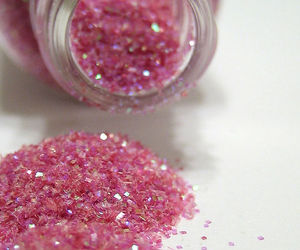 makeup, spill, and glitter image