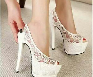 girls, white, and high heels image