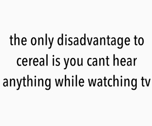 cereal, tv, and funny image