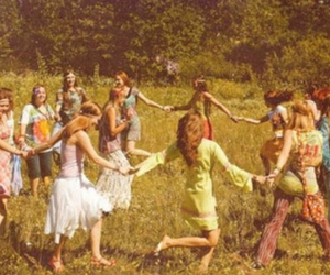 hippie, peace, and hippies image