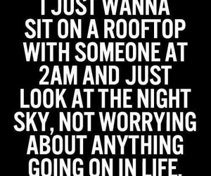 quote, life, and rooftop image