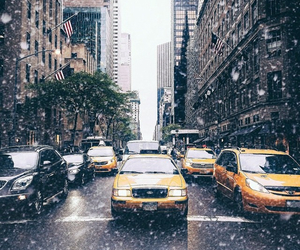 taxi, city, and nyc image