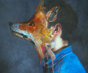 art, fox, and boy image