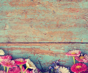 flowers, wallpaper, and vintage image