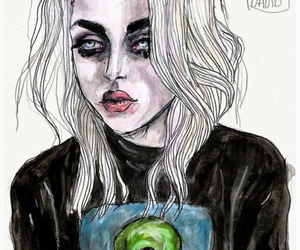 art and frances bean cobain image