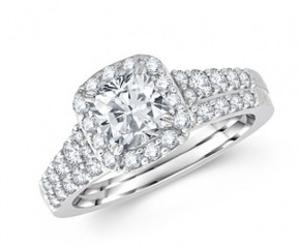 diamond ring, princess cut diamond ring, and diamond ring for women image