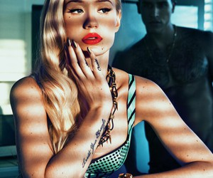 blonde, rapper, and red lips image