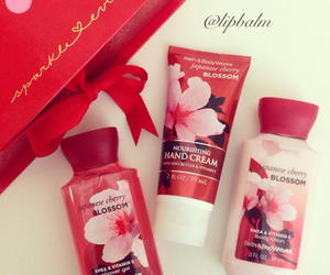 lotion, bath and body works, and japanese cherry blossom image