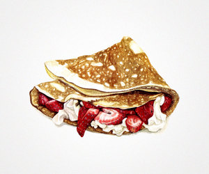 illustration, art, and food image