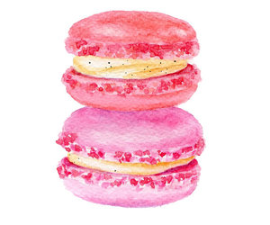 macaroons, pink, and art image