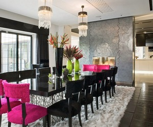 luxury, pink, and dining room image