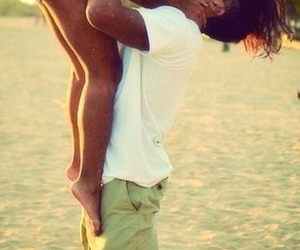 love, beach, and kiss image