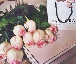 rose, flowers, and pandora image
