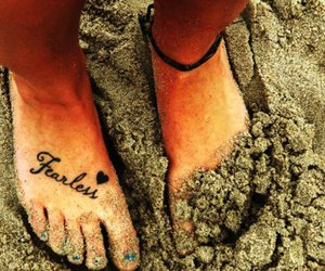 tattoo, fearless, and feet image