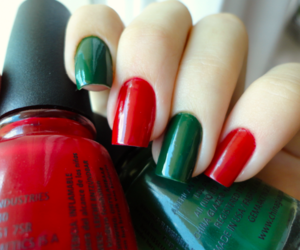nails, green, and red image