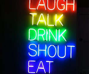 laugh, drink, and smile image