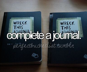 before i die, Dream, and journal image