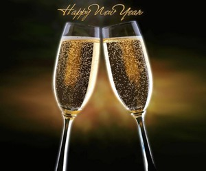 new year, happy new year, and champagne image