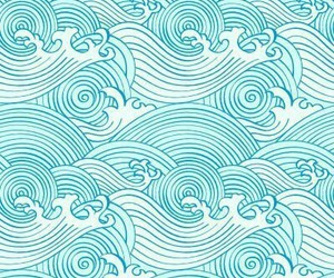 background, wave, and blue image