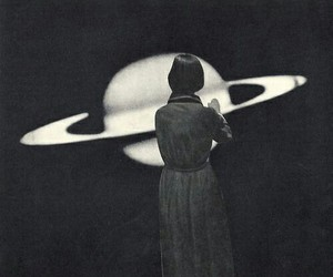 woman, space, and vintage image