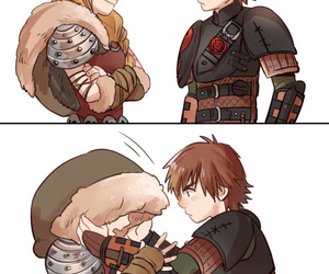 astrid, kiss, and hiccup image