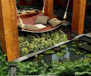 bed, green, and nature image