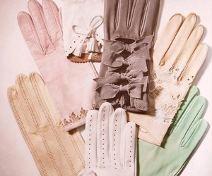 gloves, vintage, and pastel image