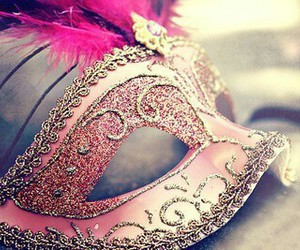pink and mask image