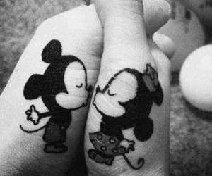 love, kiss, and mickey image