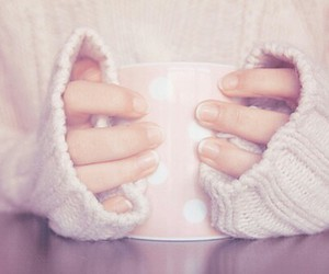pink, coffee, and cup image