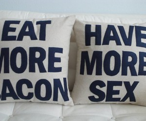 bacon, bed, and photography image