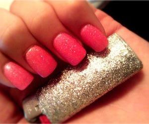 nails, neon, and nail polish image