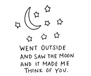 moon, love, and quotes image