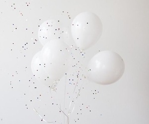 balloons, happy, and white image