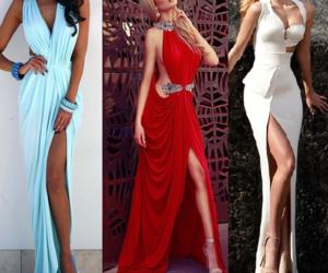 beautiful girl, blue dress, and fashion image
