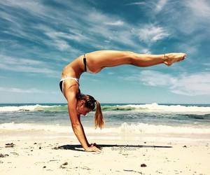 pilates, beach, and girl image
