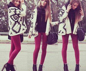 cozy, fashion, and leggings image