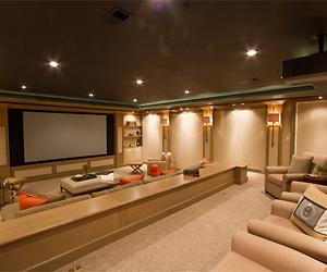 house, luxury, and cinema image