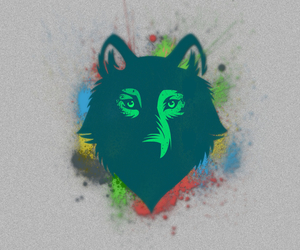 animal, wolf, and color image