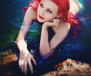 disney, ariel, and cosplay image