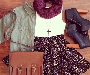 bag, scarf, and clothes image