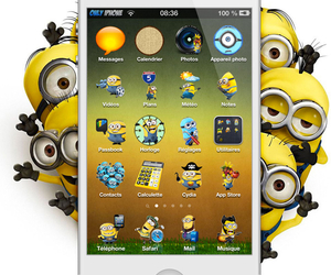 iphone and minion image