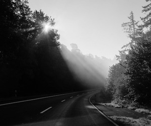 dark, photography, and road image