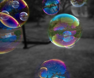 beauty, bubbles, and colourful colorful image