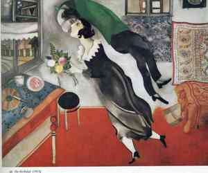 art, marc chagall, and kiss image