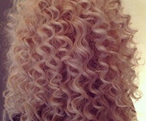 curly, blonde, and curly hair image