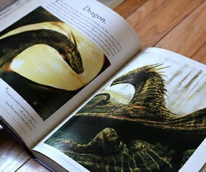 art, book, and dragons image